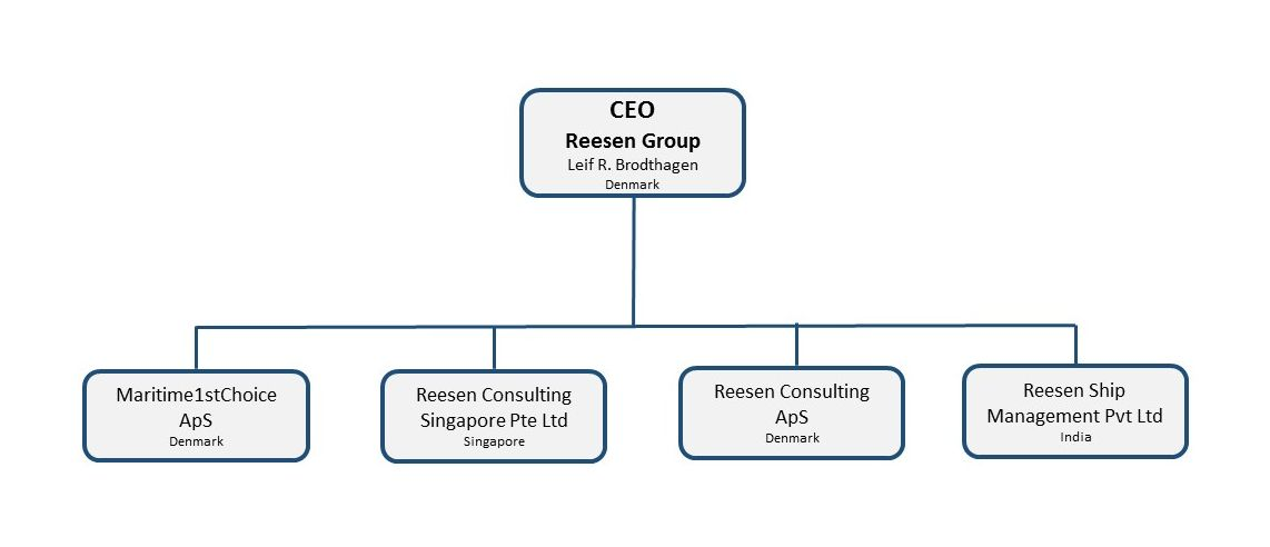 Reesen Group Organisation diagram